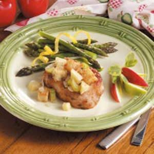 Contest-Winning Pork Chops with Apple Stuffing Recipe