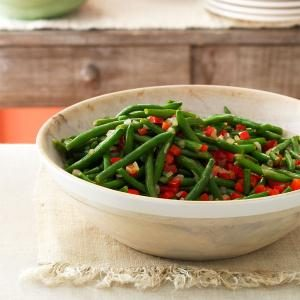 Green Beans with Peppers Recipe
