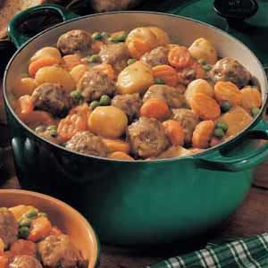 Microwave Meatball Stew Recipe