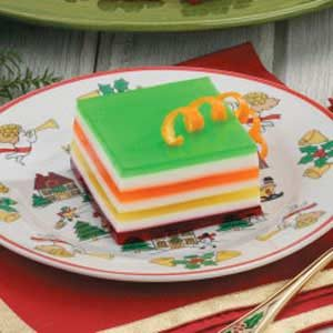 Seven-Layer Gelatin Salad