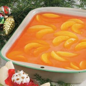Peaches 'n' Cream Gelatin Dessert Recipe
