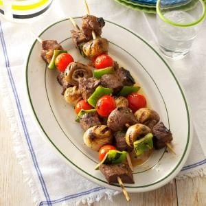 Vegetable Steak Kabobs Recipe