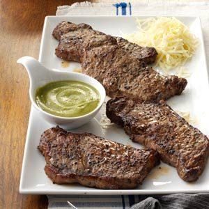 Santa Fe Strip Steaks Recipe