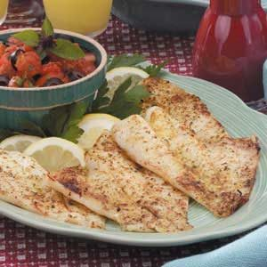 Broiled Orange Roughy with Italian Salsa Recipe