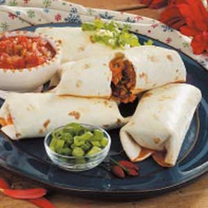 Baked Pork Chimichangas Recipe