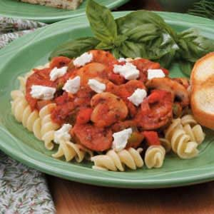 Sausage Marinara Over Pasta Recipe