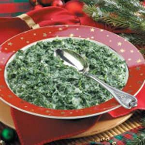 Creamed Fresh Spinach Recipe