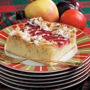 Apple Plum Streusel Dessert Recipe