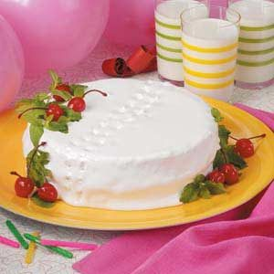 Maraschino Party Cake Recipe