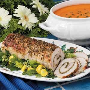 Herb-Stuffed Pork Loin Recipe