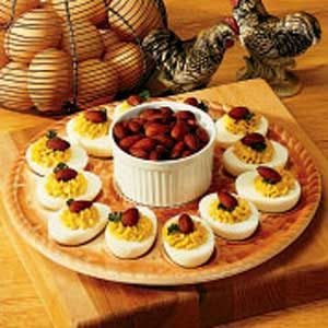 Almond Deviled Eggs Recipe