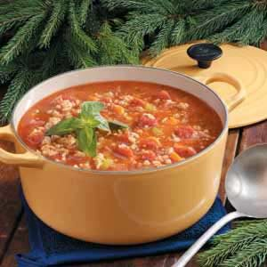 Turkey Barley Tomato Soup Recipe