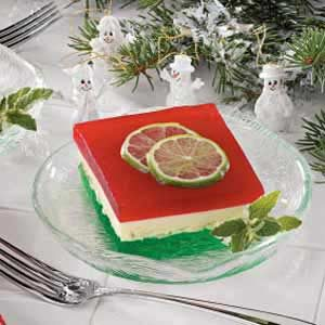 Christmas Ribbon Salad Recipe