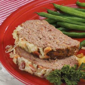 Bacon Swiss Meat Loaf Recipe