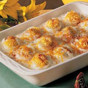 Baked Stuffed Eggs