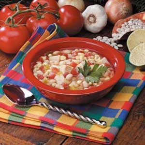 Chicken Soup with Beans Recipe