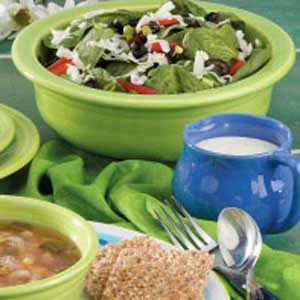 Ranch Spinach Salad Recipe