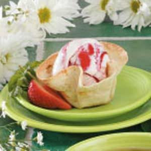 Ice Cream Tortilla Cups Recipe