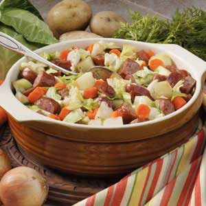 Cabbage Sausage Supper Recipe