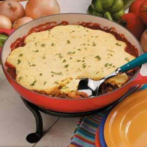 Corn Bread Hamburger Pie Recipe