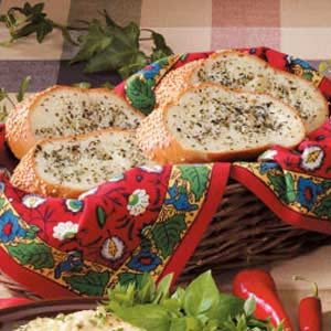 Basil-Buttered French Bread Recipe