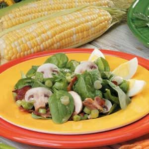 Mushroom and Bacon Spinach Salad Recipe
