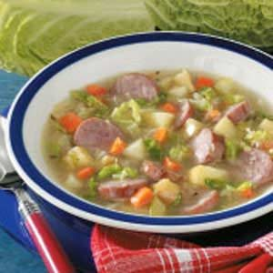 Fast Kielbasa Cabbage Soup Recipe