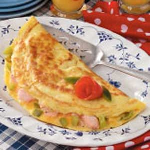 Fresh Salmon Omelet Recipe