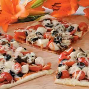 Mushroom Chicken Pizza Recipe