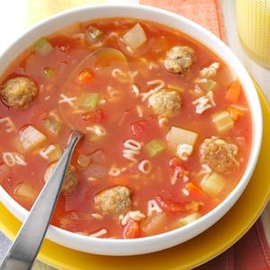 Meatball Alphabet Soup Recipe