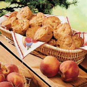 Almond Peach Muffins Recipe