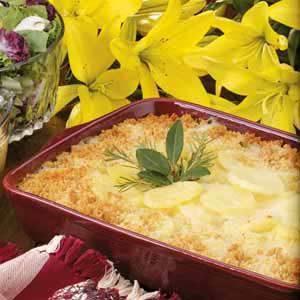 Creamy Swiss Scalloped Potatoes Recipe