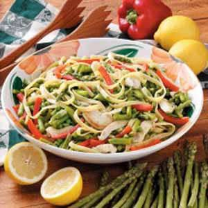 Fettuccini Primavera with Lemon Sauce Recipe