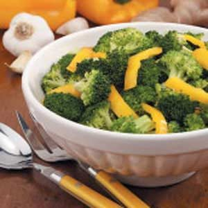 Broccoli With Yellow Pepper Recipe
