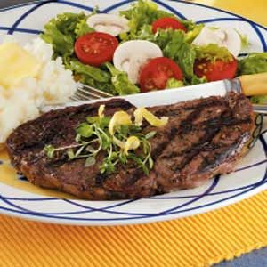 Thyme Lemon Sirloins Recipe