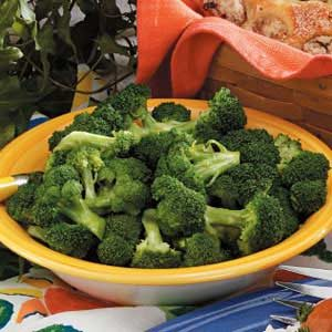 Steamed Broccoli Florets Recipe