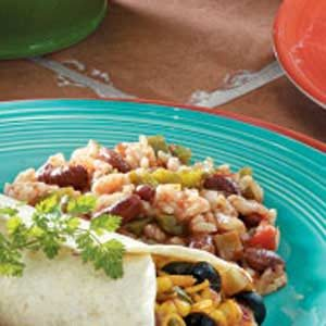 Salsa Red Beans 'n' Rice Recipe