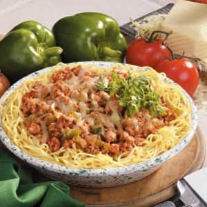 Spaghetti Turkey Pie Recipe