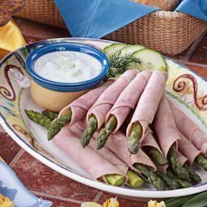 Ham N Asparagus Roll-Ups Recipe