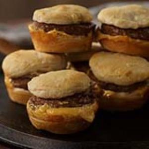 Breakfast Pattie Sliders with Cheese Recipe