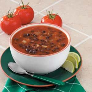 Black Bean Soup for Two Recipe