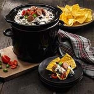 Queso Blanco & Black Bean Slow Cooker Dip Recipe