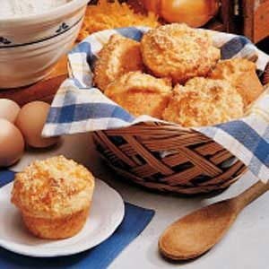 Onion Cheese Muffins Recipe