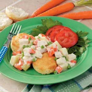 Creamed Chicken over Biscuits Recipe