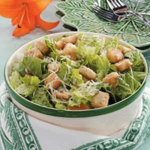 Romaine Caesar Salad Recipe
