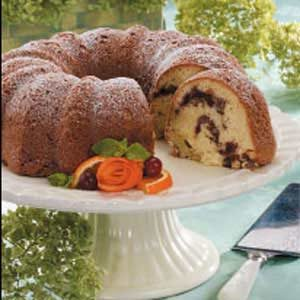Cran-Orange Coconut Cake Recipe