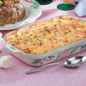 Golden Shrimp Brunch Casserole Recipe