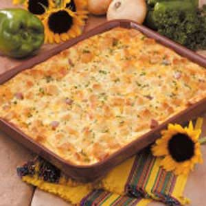 Cheese n Ham Strata Recipe