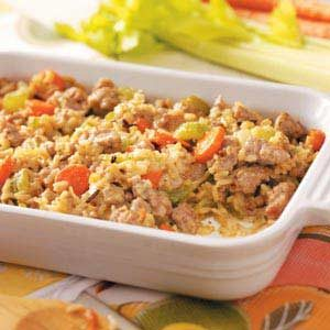Rice Sausage Casserole Recipe