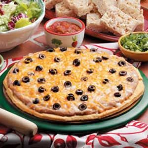 Mexican Dip Pizza with Cornbread Crust Recipe